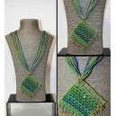 COLLAR GREEN MULTI CHAIN 1432